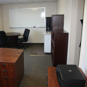 Office with table & Bookshelf